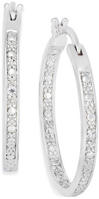 Townsend Victoria Sterling Silver Earrings, Diamond Accent In-and-Out Hoop Earrings