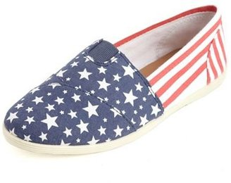 Charlotte Russe American Flag Wrap Canvas Flat