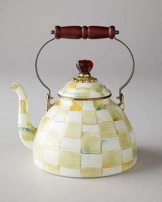 Mackenzie Childs Parchment Check 2-Quart Tea Kettle