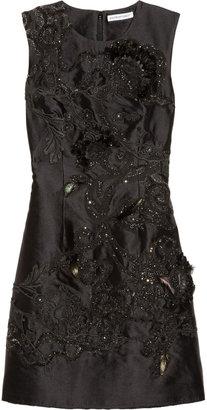 Kaufman Franco KAUFMANFRANCO Embellished wool and silk-blend dress