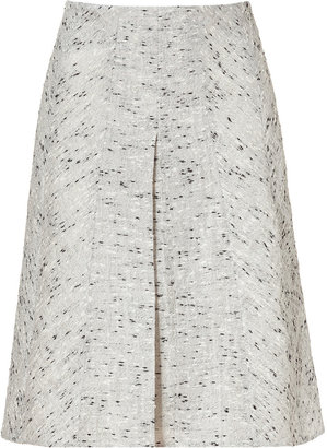 Derek Lam White and Black A-Line Pleat Skirt