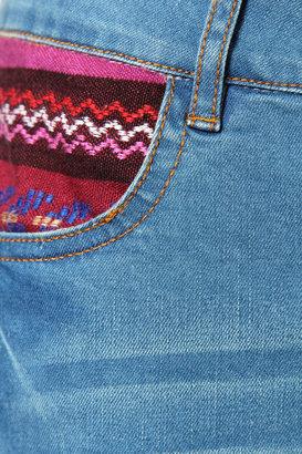 Boohoo Savannah Aztec Pocket Boyfriend Fit Jeans