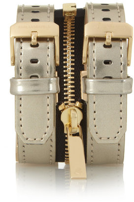 Karl Lagerfeld Edge Zip studded leather watch