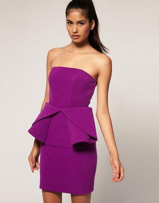 Aqua Bruni Origami Bandeau Mini Dress