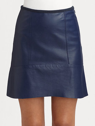 Sachin + Babi Caldera Leather Skirt