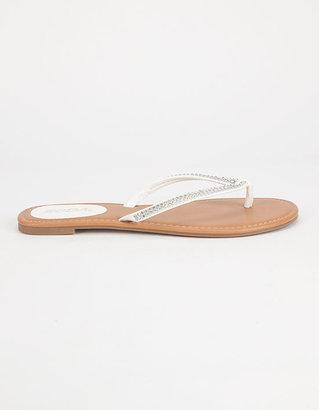 Soda Sunglasses Bling Womens Sandals