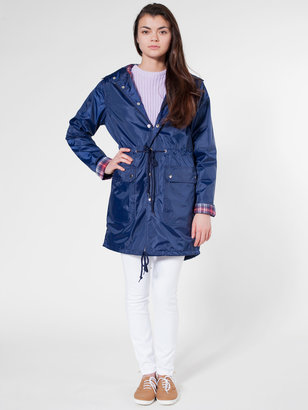 American Apparel Unisex Flannel-Lined Rain Parka