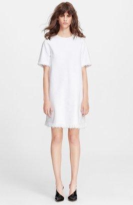 Alexander Wang Frayed Burlap Cotton Dress