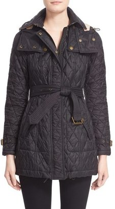 Women's Burberry Brit Finsbridge Belted Quilted Jacket $795 thestylecure.com