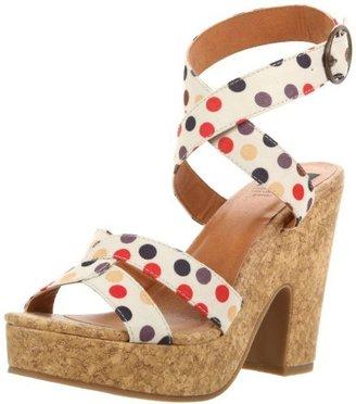 BC Footwear Women's Slouch Polka Dot Platform Sandal