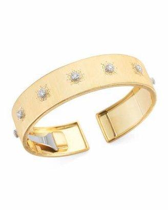Classica 18k Gold Cuff Bracelet with Diamonds, Large