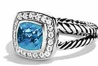 David Yurman Women's Albion Petite Ring with Gemstone & Diamonds