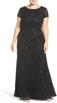 Adrianna Papell Embellished Scoop Back Gown $312 thestylecure.com