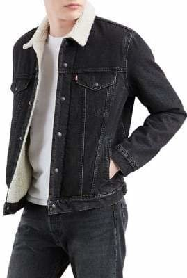 Levi's Faux Shearling-Lined Fegin Denim Trucker Jacket