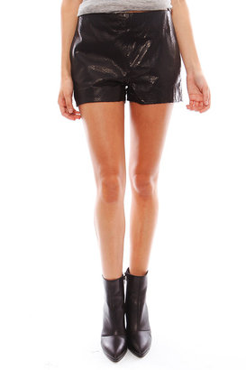 J Brand Ready-To-Wear Tullia Leather Short in Black