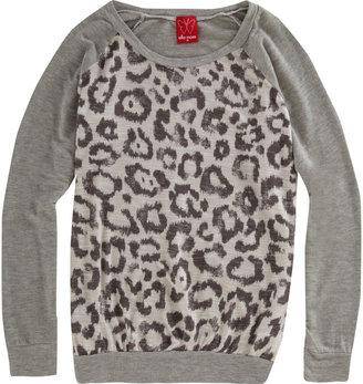 Ella Moss Leopard Print Raglan Shirt