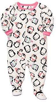 Carter's Carter's® Penguin Microfleece Footed Pajamas - Girls 12m-24m