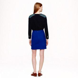 J.Crew Shirttail mini in wool