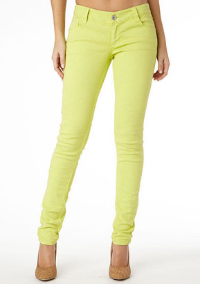 Paris Blues Colored Skinny Jean - Lime