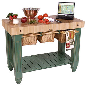 John Boos American Heritage Kitchen Island with Butcher Block Top