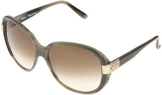Chloé CL2211 (Grey Horn/Black/Gradient Grey) - Eyewear