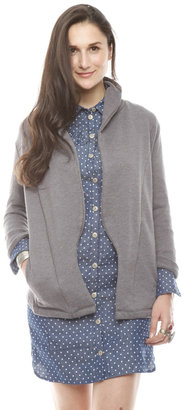 Alternative Apparel Cuffed-Sleeve Cardigan Jacket