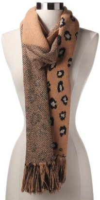 Juicy Couture Women's Fiercely Spotted Leopard Print Scarf