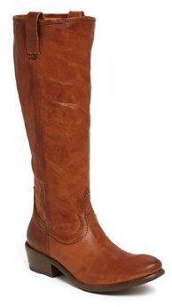 Frye Women's Carson Zip Tall Boot,Cognac,9 M US