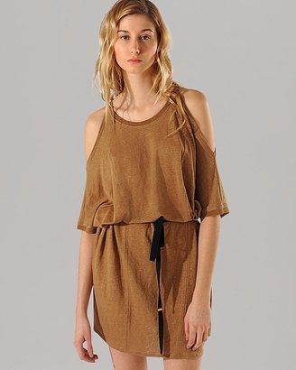 Maje Jersey Dress - Akiris Open Shoulder