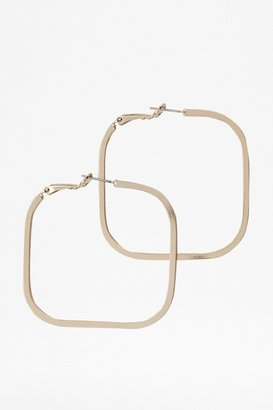 French Connection Square Cut Hoop Earrings