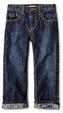 Joe Fresh Skull-Print Cuff Jeans - Boys 1y-5y