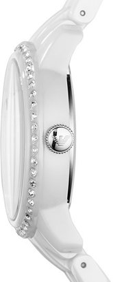 Emporio Armani Crystal Bezel Ceramic Bracelet Watch, 33mm