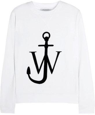 J.W.Anderson Flocked cotton-jersey sweatshirt
