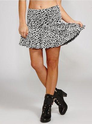 GUESS Leopard Jacquard Knit Skirt