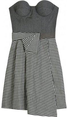 Richard Nicoll CASHMERE BLEND BUSTIER DRESS