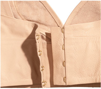 H&M Leather Bustier - Light beige - Ladies
