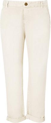 Current/Elliott Sweet Cream Captain Trouser Pants