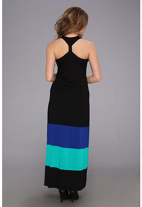 Calvin Klein T-Back Color Block Maxi Dress