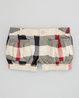 Burberry Check Cotton-Voile Shorts, New Classic