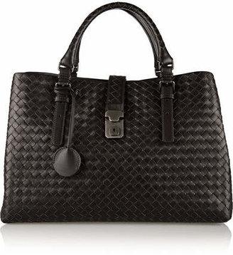 Bottega Veneta - Roma Large Intrecciato Leather Tote - Dark brown $3,750 thestylecure.com
