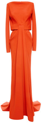 Zac Posen Stretch Crepe Gown