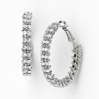 Vera Wang Simply Vera Tone Wrapped Hoop Earrings