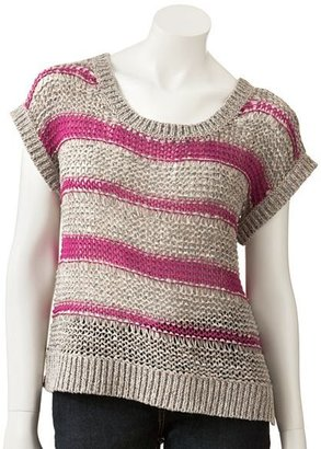 Lauren Conrad striped tape yarn sweater