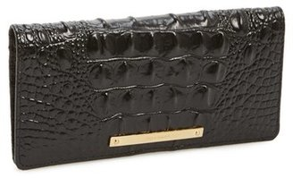 Women's Brahmin 'Ady' Croc Embossed Continental Wallet - Black $95 thestylecure.com