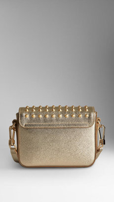 Burberry Studded Metallic Leather Crossbody Bag