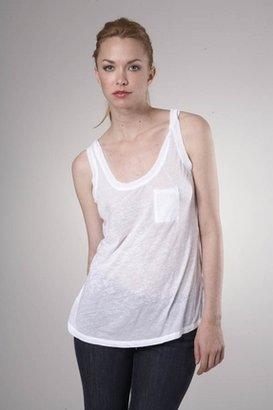 Fluxus Burnout Pocket Tank in White $65 thestylecure.com