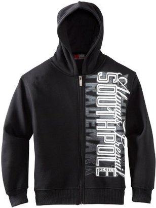 Southpole Kids Boys 8-20 Hooded Full Zip Collegiate Vertical Logo Sweatshirt