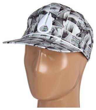 Nixon Mic Snap Back Hat (Navy/White) - Hats