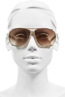 Christian Dior 'Chicago' 63mm Metal Aviator Sunglasses