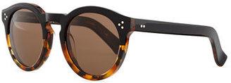 Illesteva Leonard Round Half & Half Sunglasses, Tortoise $290 thestylecure.com